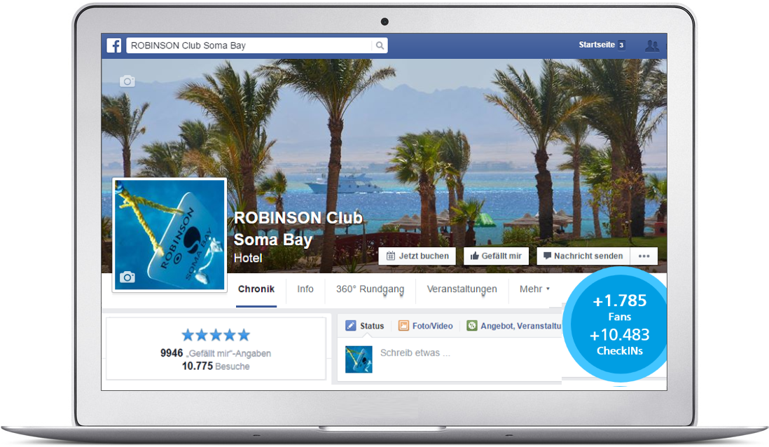 Beispiel Robinson Club Somabay Zusammenführung Fanpages