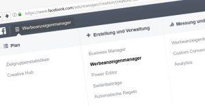 Facebook Werbenazeigen Manager