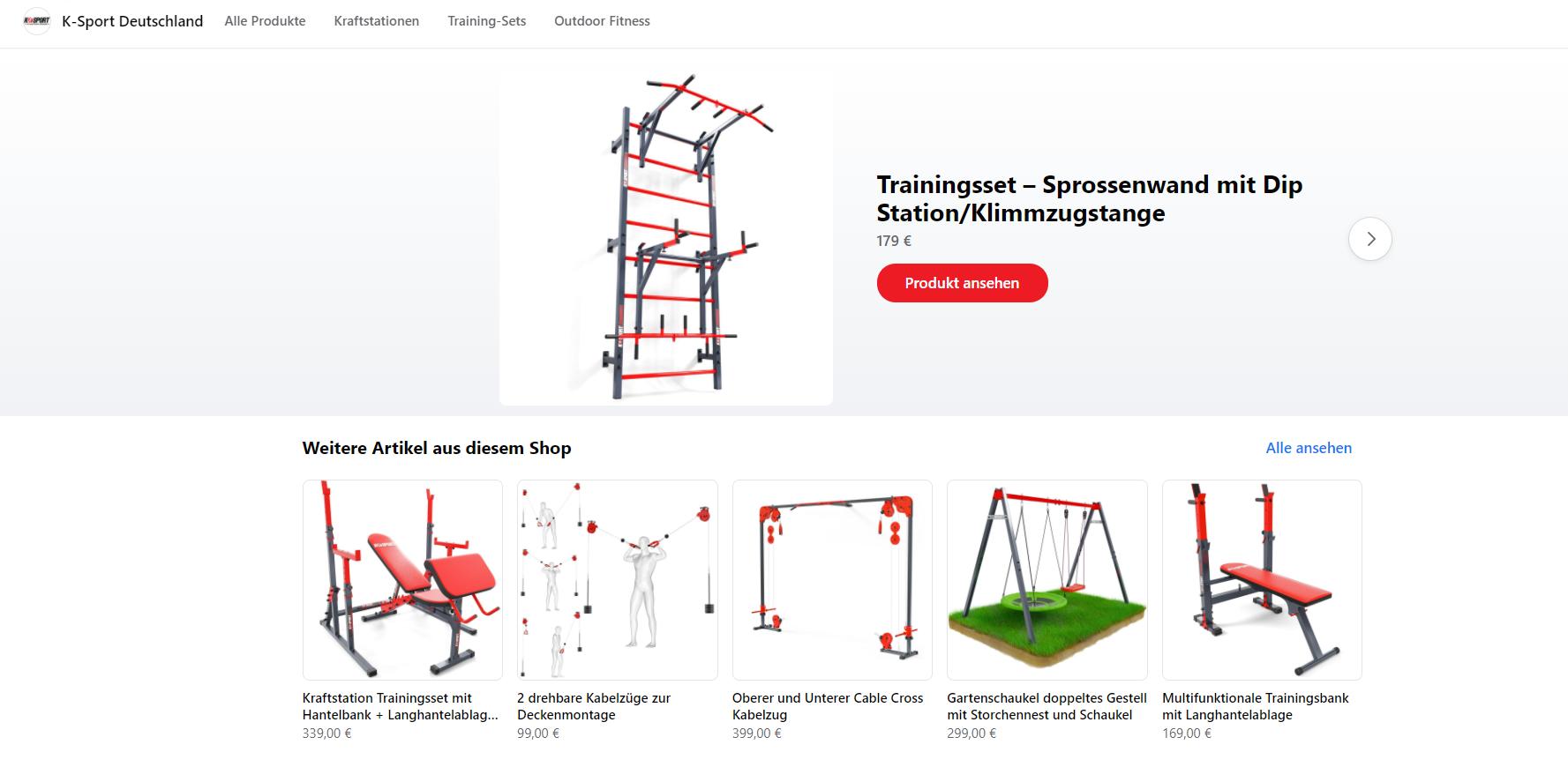 K Sport Deutschland Facebook Shop