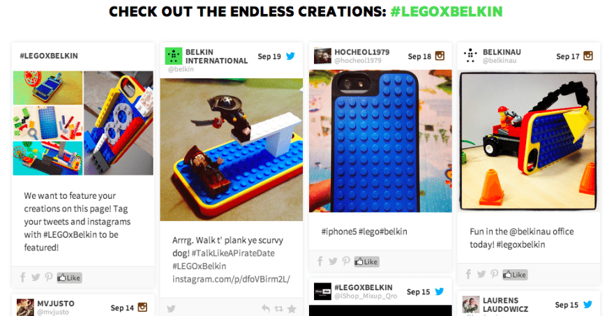 Beispiele für User generated Content_Legobelkin