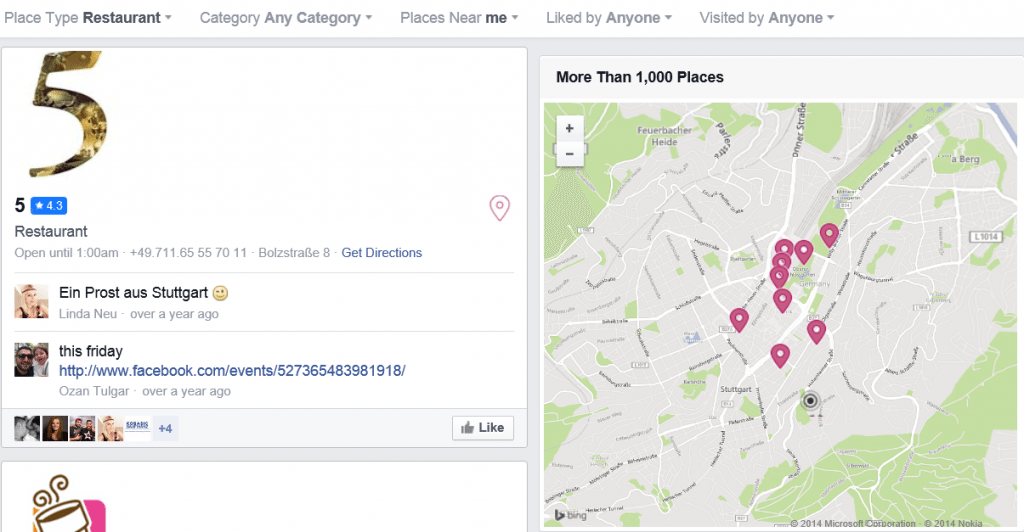 Social Graph Search_Places Nearby