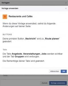Facebook Seiten Vorlagen
