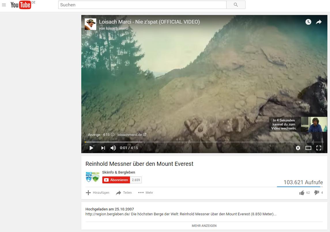 Youtube Werbung (2)